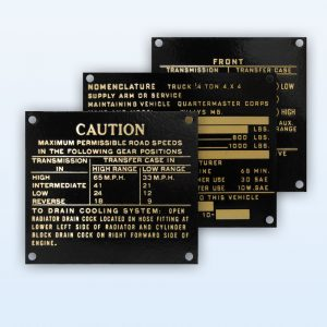 Military Jeep - Plate Data